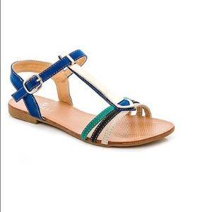 Shoes - Blue color block sandals size 7 1/2 summer sandals